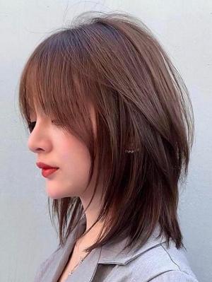 中碎发发型图片女