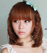 日系中短发甜美可爱扎发发型