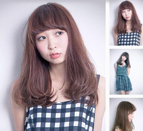 斜刘海发型