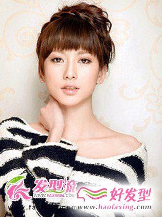 气质优雅的韩式麻花辫盘发