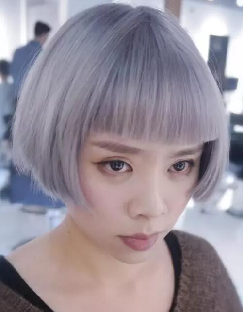 2017流行齐腮短发发型女图片大全05
