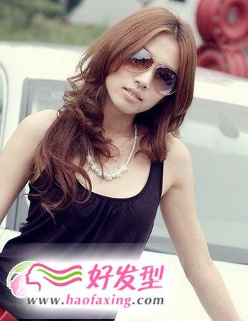 女生发型 中长卷发发型设计