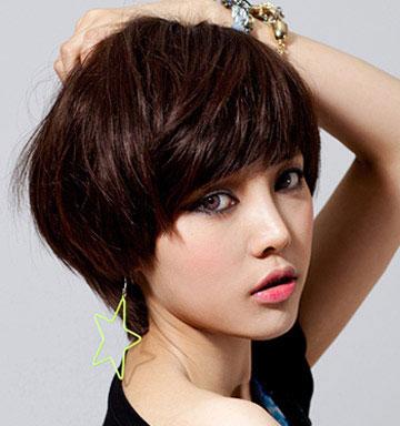 女生可爱短发 柔美短发图片 女生短发图片5