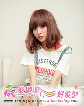 韩式梨花头假发 可爱假发发型