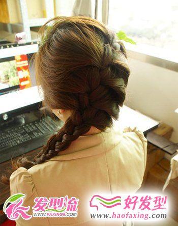 韩式蜈蚣辫发型  打造春日别样的美