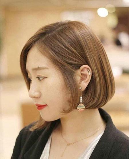 女生撇耳短发 流行女生发型 女生短发发型3