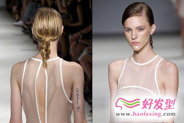 2013女生马尾发型的最新绑法