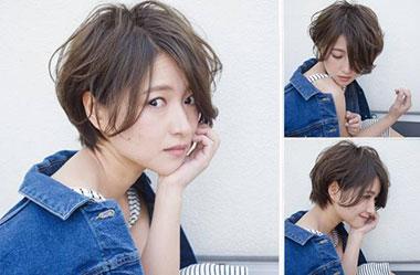 清爽女生短发 短发女生图片 日系短发发型19