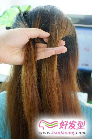 韩式直发发型diy  养眼甜蜜发型