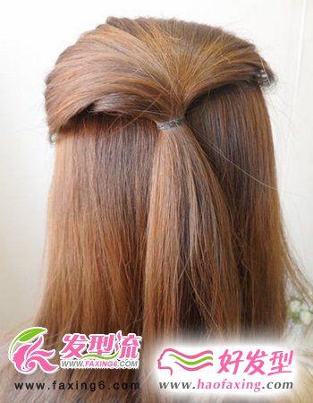 精巧的韩式盘发发型图解
