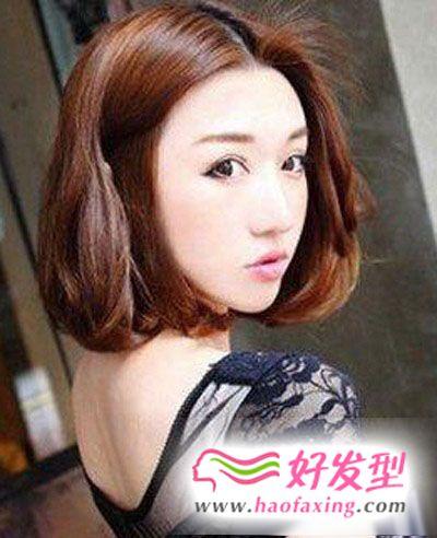 2013年韩式减龄修颜短发发型