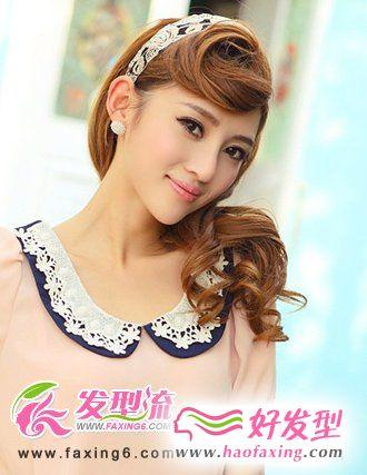圈圈刘海发型图片