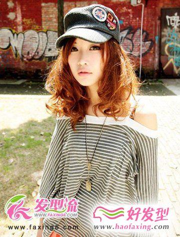 2012女生烫发发型 时尚烫发图片