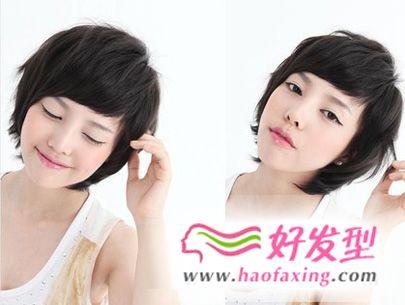 最新中学生可爱简单发型图片