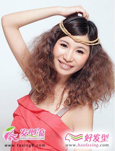 头发稀少女生最爱的烫发发型