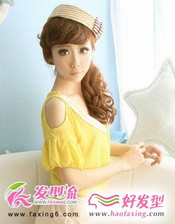 韩式发型扎发 美女演绎不同扎发发型