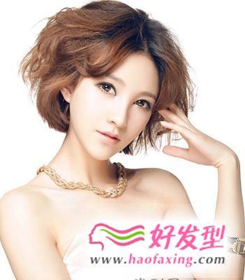 最美韩式短发烫发发型图片赏析 让你感受不一样的女人味