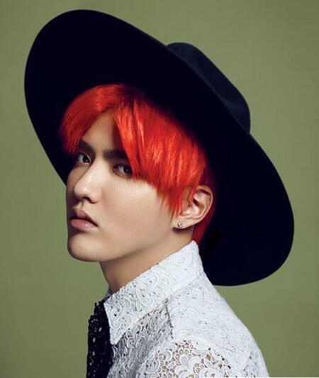 韩式男生发型 男生中分发型 经典八字刘海7