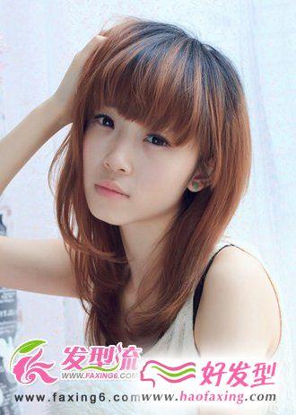 齐刘海直发发型