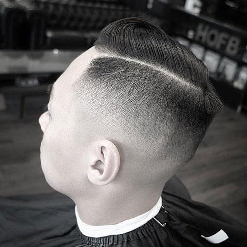 男生简单发型 男生渐变发型 简单渐变发型男4
