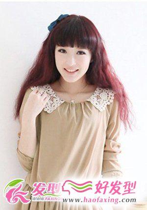 齐刘海烫发发型