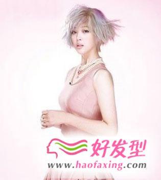 2013最流行的女短发发型设计 韩式短发尽显恬静气息