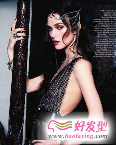 凯拉·奈特莉百变时尚发型 性感迷人