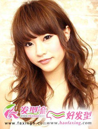 甜美日系卷发发型