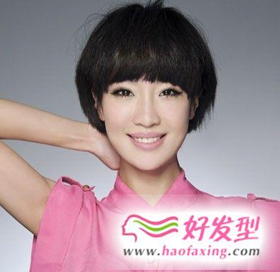 马晓灿短发蘑菇头发型赏析 清新活力带动短发魅力