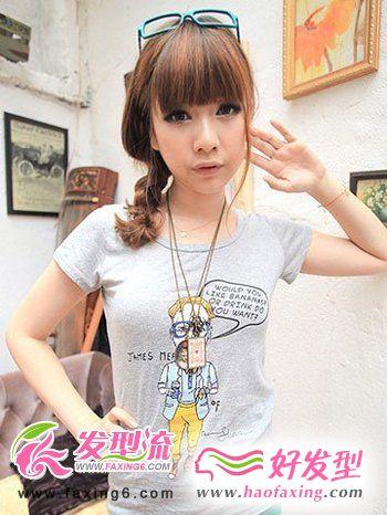 2012最新流行时尚韩式发型扎法