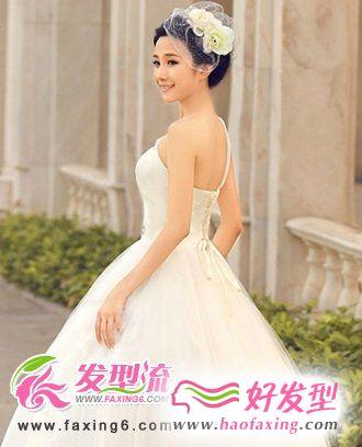 气质新娘首选发型 新娘发型设计
