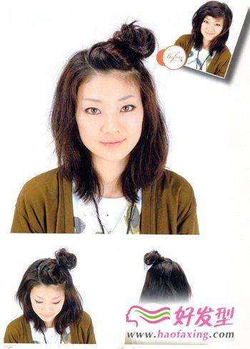 中短发发型扎法 女生发型扎法