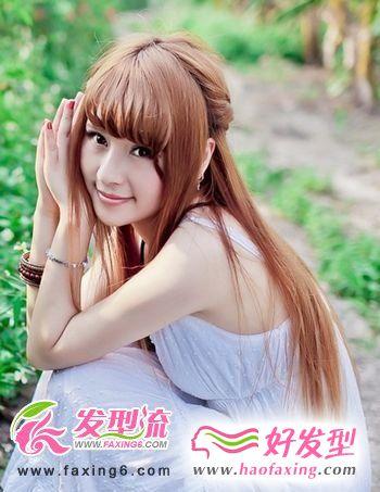 甜美长发发型图片