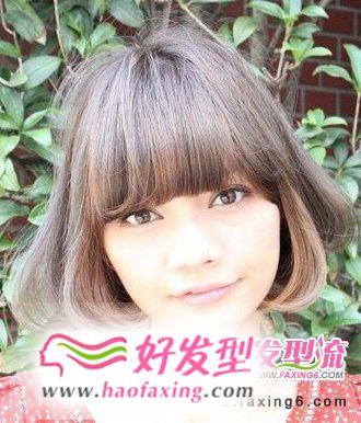 中短发梨花头发型图片  最新修颜梨花头