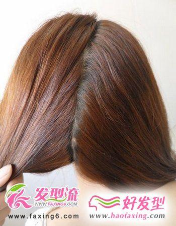 韩式发型diy 第一步