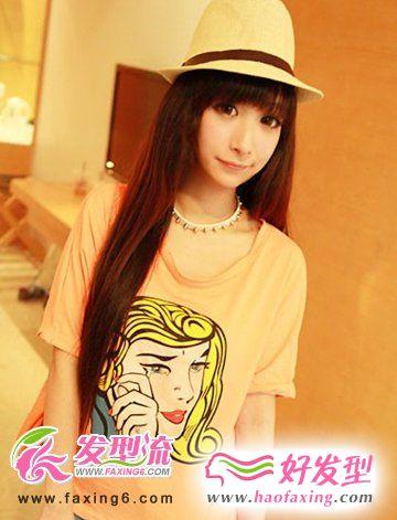 2012女生流行长发发型图片