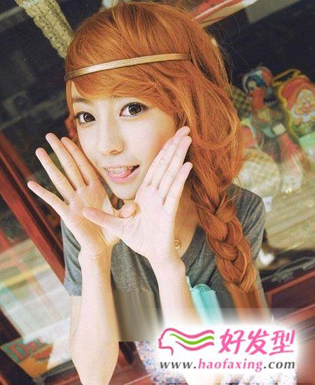日系风的甜美女生辫子发型