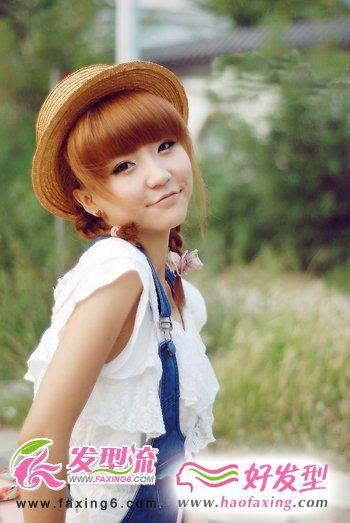 百变齐刘海发型 打造精致小脸