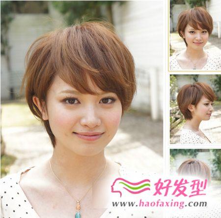 圆脸女生适合的短发发型图片