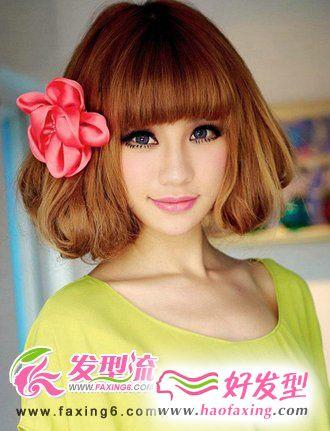 2012流行发型 甜美梨花头