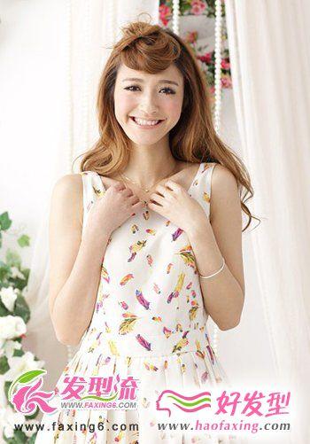 花环式刘海发型