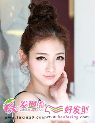 道姑头韩式发型扎法