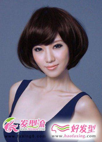 圆润波波头发型