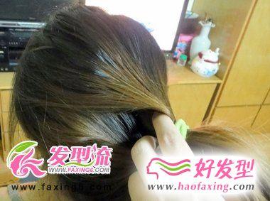 韩式清新盘发DIY教程