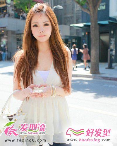 淑女长发发型靓丽整个夏天