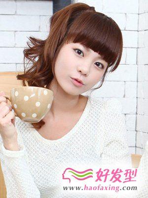 韩国最新女生发型  可爱韩式发型