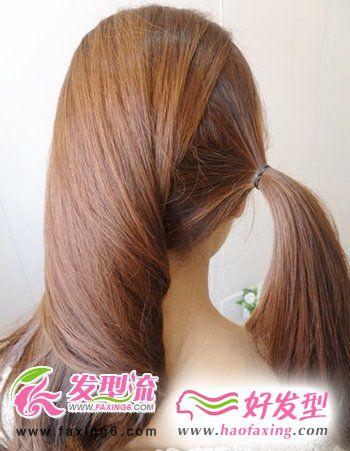 韩式发型diy 第二步
