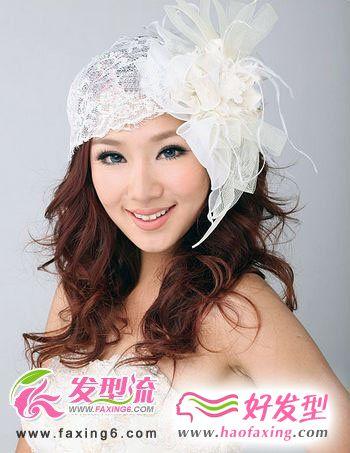 韩式新娘发型+精美新娘头花