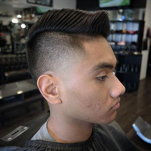 男生简单发型 男生渐变发型 简单渐变发型男6