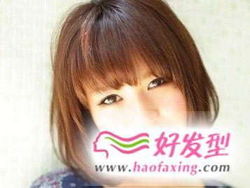 女生胖圆脸短发发型推荐 修颜更具青春活力气息